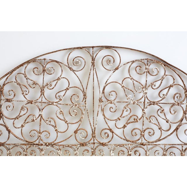 19th Century French Demilune Iron Transom Grille For Sale In San Francisco - Image 6 of 12