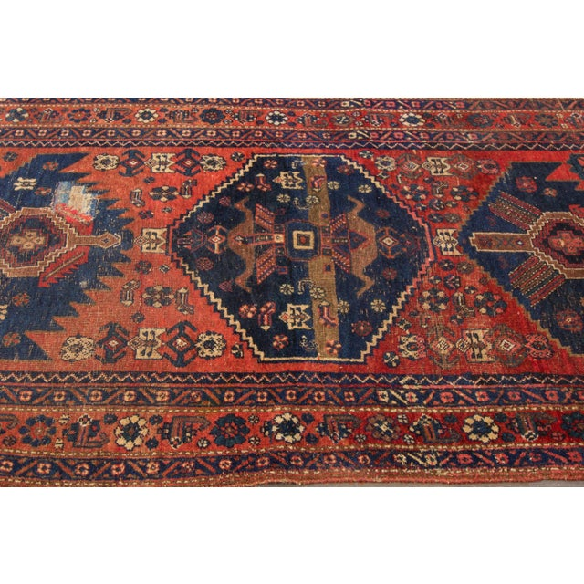 "Vintage Hand-Knotted Persian Rug - 4' X 7'3"" - Image 4 of 4"