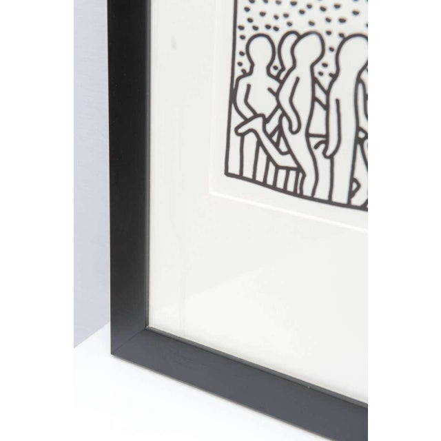 Paper Keith Haring Serigraph, New York 1982 For Sale - Image 7 of 9