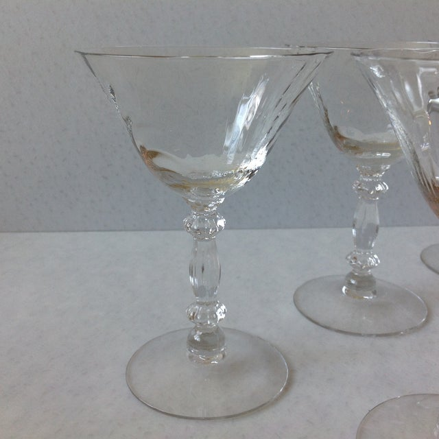 Cambridge Optic Crystal Cocktail Stemware For Sale In Chicago - Image 6 of 11