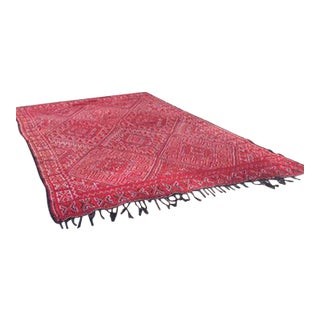 Vintage Moroccan Handmade Rug -- 7' x 10' For Sale