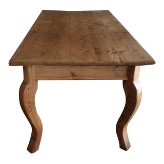Antique French Pine Dining Table For Sale