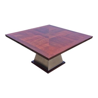 Italian Art Deco Style Rosewood Dining Table For Sale
