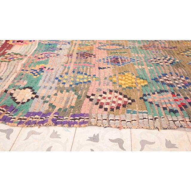 "Vintage Boucherouite Moroccan Rug - 3'3"" x 6'11"" - Image 3 of 4"