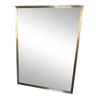 Restoration Hardware Antiqued Brass Metal Beveled Mirror For Sale