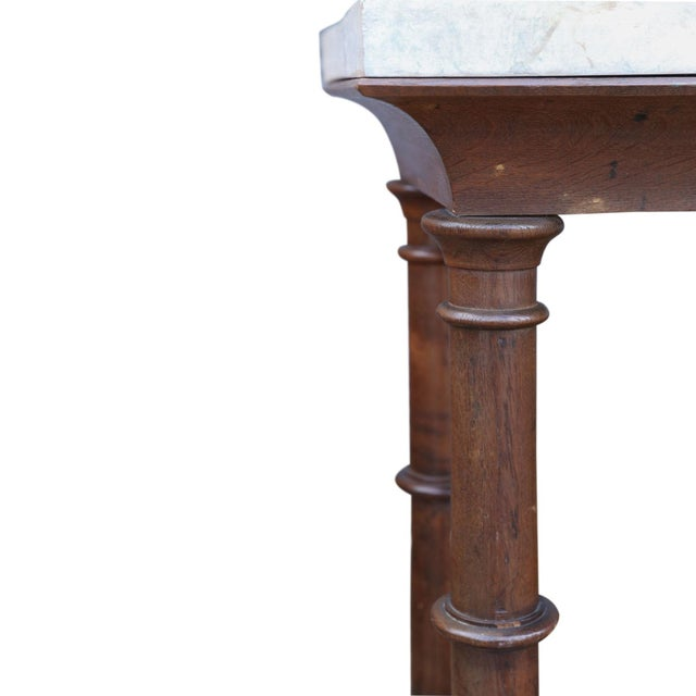 Faux Marble-Top Console For Sale - Image 4 of 10
