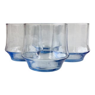 Contemporary Azure Impromptu on the Rocks Glass - Set of 4 For Sale