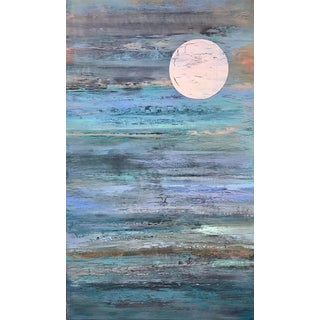 Original Contemporary Abstract Moon Painting For Sale