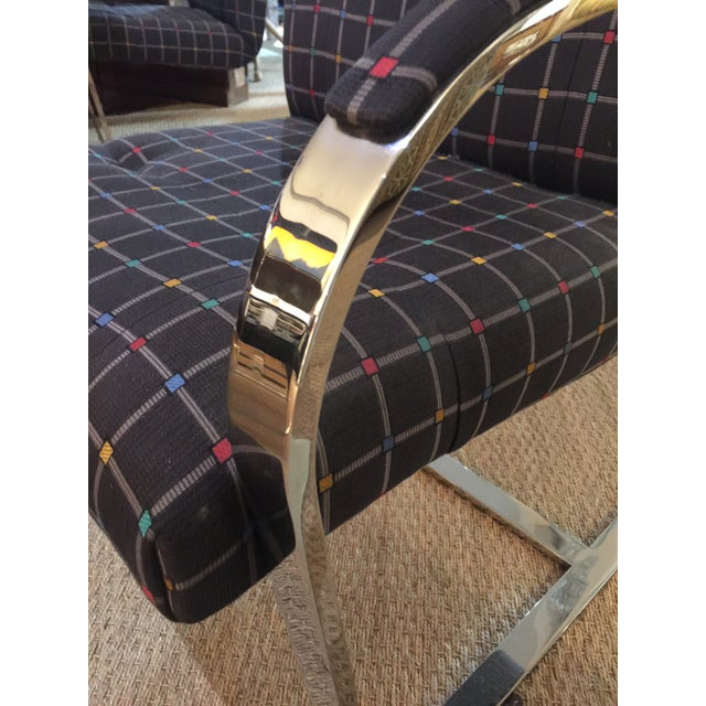 Mid Century Modern Chrome Over Steel Brueton Chairs - Set of 6 For Sale In New York - Image 6 of 9