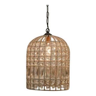French Beaded Birdcage Pendant Light