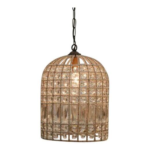 French beaded birdcage pendant light chairish aloadofball Image collections