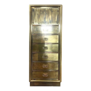 1960s Hollywood Regency Mastercraft Brass Lingerie Chest For Sale