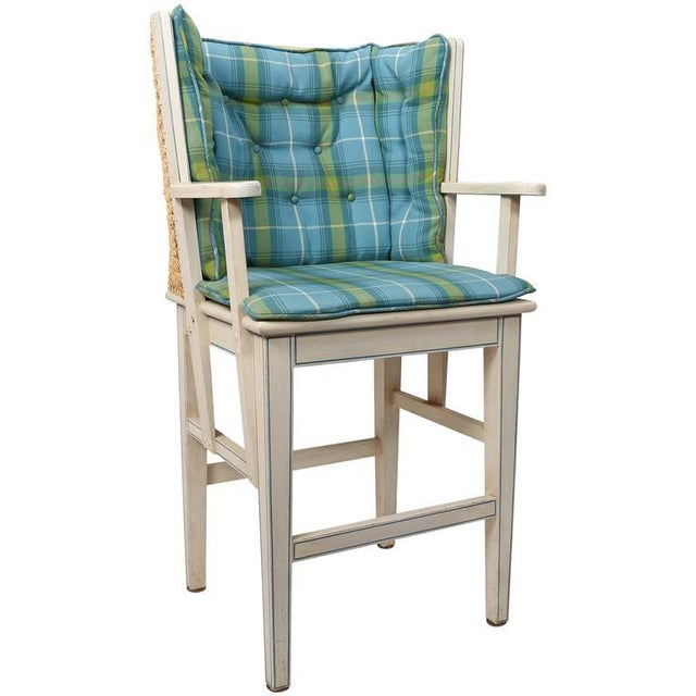 English Traditional Painted Orkney Style Barstool For Sale - Image 3 of 3