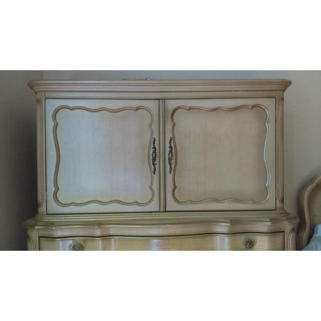 Vintage French Provincial Highboy Dresser For Sale - Image 4 of 5