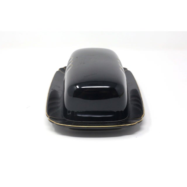"""Wave Golden Black"" Butter Dish by Ranmaru For Sale - Image 4 of 10"