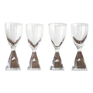 """Vintage Holmegaard """"Princess"""" Danish Akvavit/Shot Glasses- Set of 4 For Sale"""