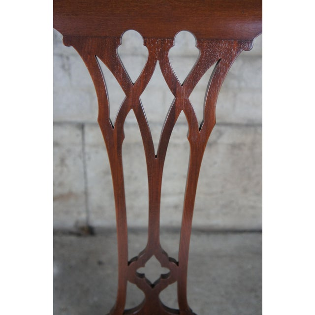 White Chippendale Style Mahogany Dining Arm Chair, Ball & Claw Feet For Sale - Image 8 of 12