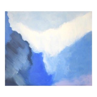 Modern Blue Bloom Painting - 3040