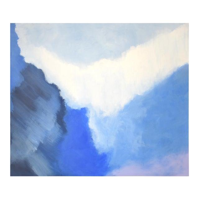 Modern Blue Bloom Painting - 3040 - Image 1 of 5