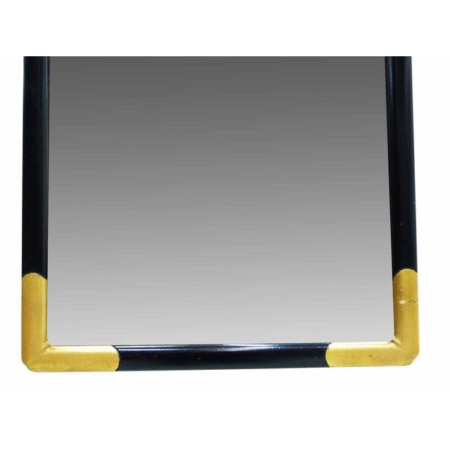 Milch & Son Vintage Black & Gilt Mirror For Sale - Image 5 of 9
