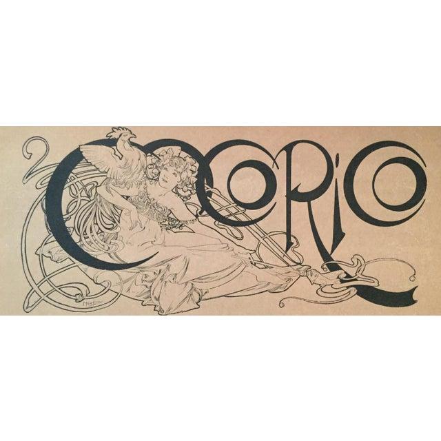 Art Nouveau 1890s French Vintage Romantic Mucha Print For Sale - Image 3 of 3