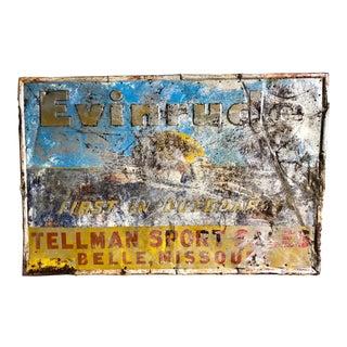 Vintage Original Evinrude Boat Motor Sign