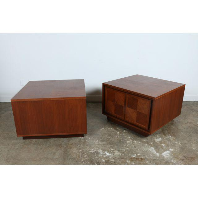 Milo Baughman Style Walnut Chests - A Pair For Sale In Los Angeles - Image 6 of 7