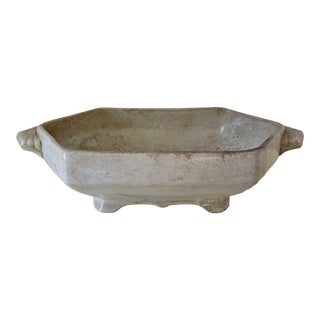 Antique Anthony Shaw & Son Opaque Stone Footed Serving Bowl For Sale