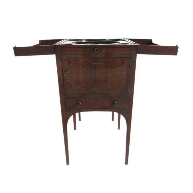 Wood English Mahogany Enclosed Lift Top Dressing Stand For Sale - Image 7 of 10