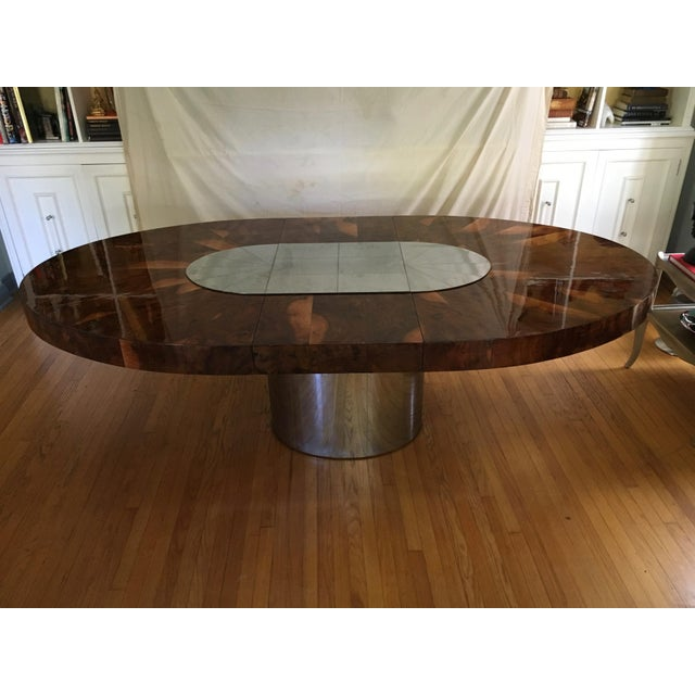 Paul Evans Race Track Burl Wood Oval Dining Table - Image 4 of 6