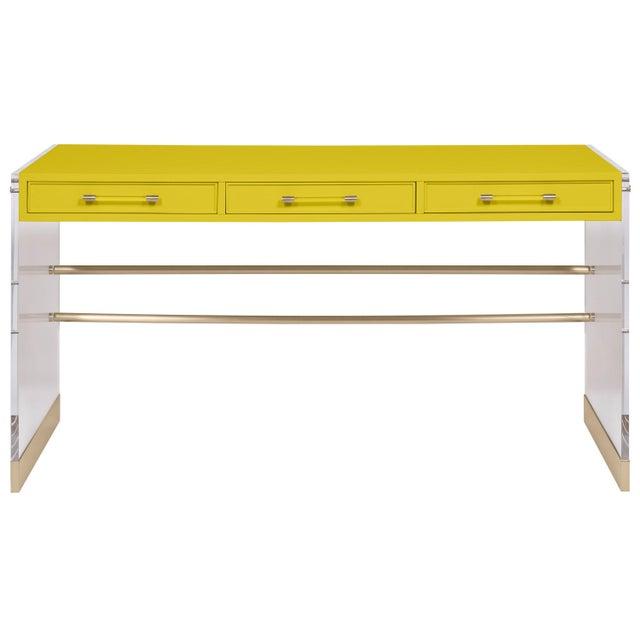 Transitional Casa Cosima Arden Desk with Taper Leg Base, Citrus Burst For Sale - Image 3 of 3
