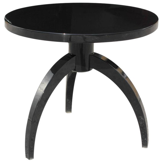 French Art Deco Black Lacquer ''Spider Leg'' Side Table - Image 1 of 10