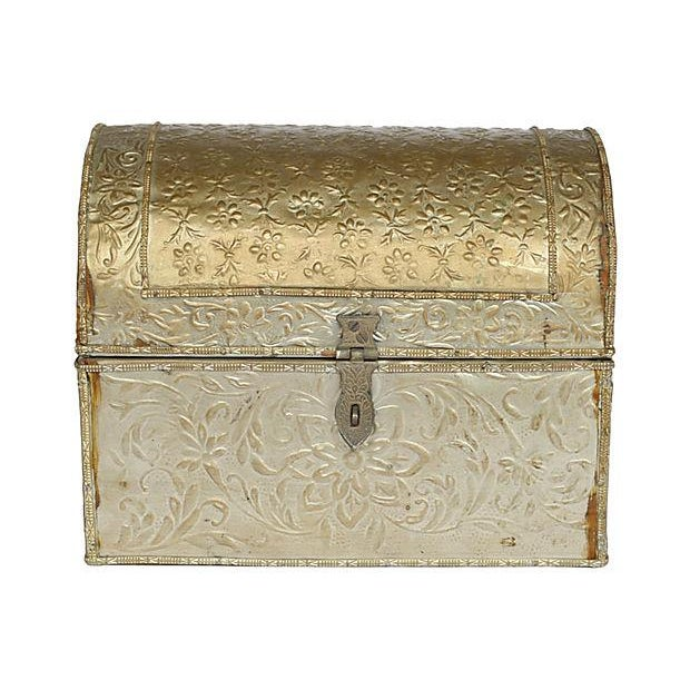 Embossed Tine Covered Box - Image 1 of 5