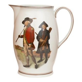 "Vintage Mottahedeh American Classical ""The Society of Goffers at Blackheath"" Pitcher For Sale"