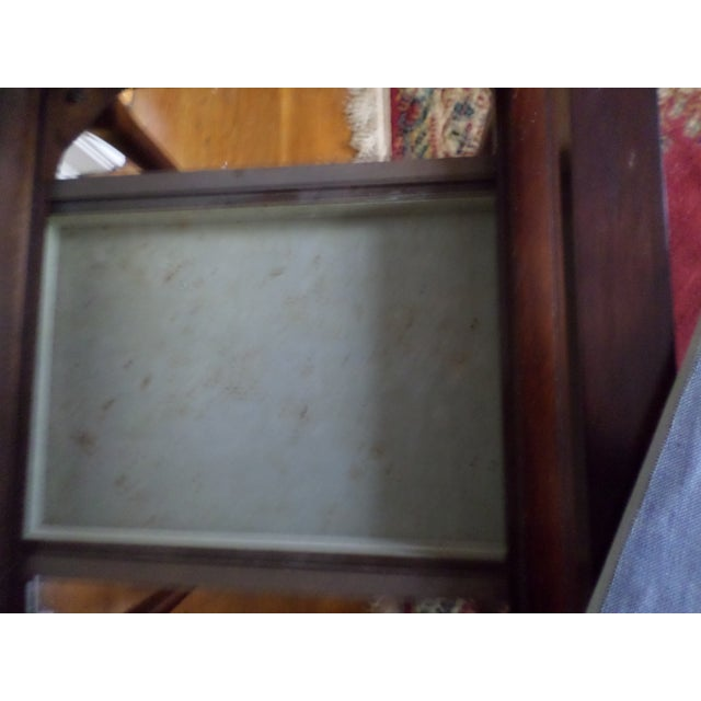 Vintage Bombay Company Cherry Stained Glass Curio Display Case For Sale - Image 12 of 13