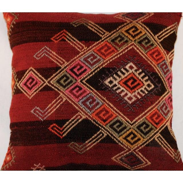 Vintage Handmade Wool Decorative Boho Pillow - Image 7 of 7