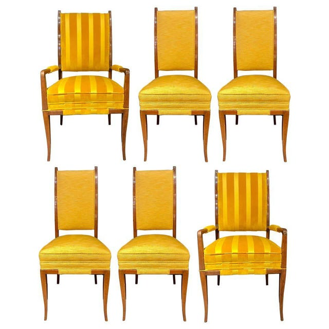 Mid-Century Modern Six Tommi Parzinger Dining Chairs, Originals For Sale - Image 13 of 13