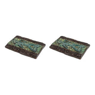 Vintage Mid-Century Italian Ceramic Door Pulls - a Pair For Sale