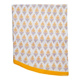 Juhi Flower Round Tablecloth - Yellow For Sale