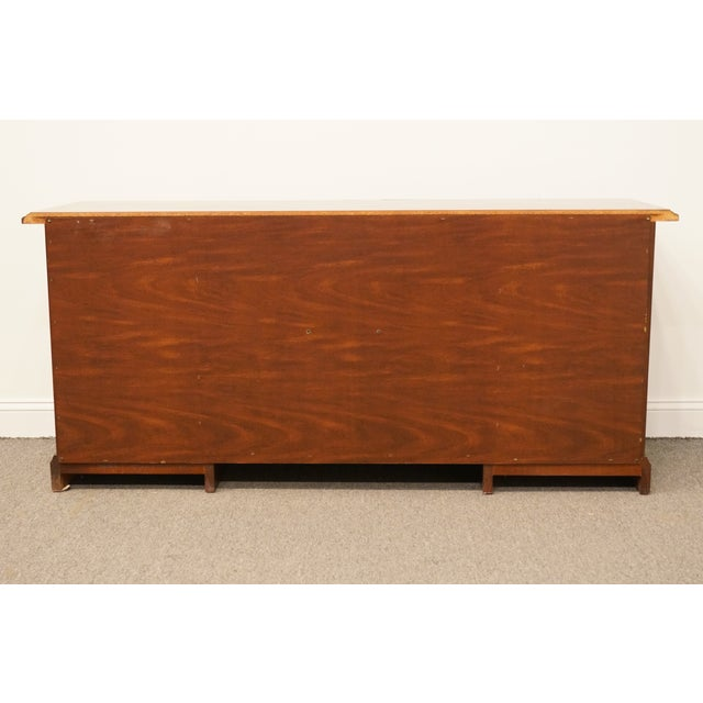 20th Century Traditional Miller Desk Solid Cherry Executive Office Credenza For Sale - Image 11 of 13