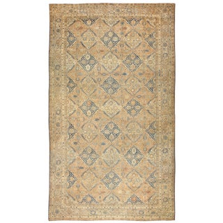 Antique Oversized Persian Kerman Rug - 13′4″ × 25′3″ For Sale