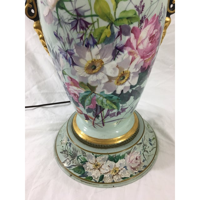 Old Paris Springtime Lamps With Hand-Painted Toile Base - a Pair For Sale - Image 6 of 11
