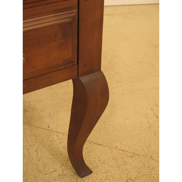 French 1990s Sligh French Style Leather Top Cherry Executive Desk For Sale - Image 3 of 13
