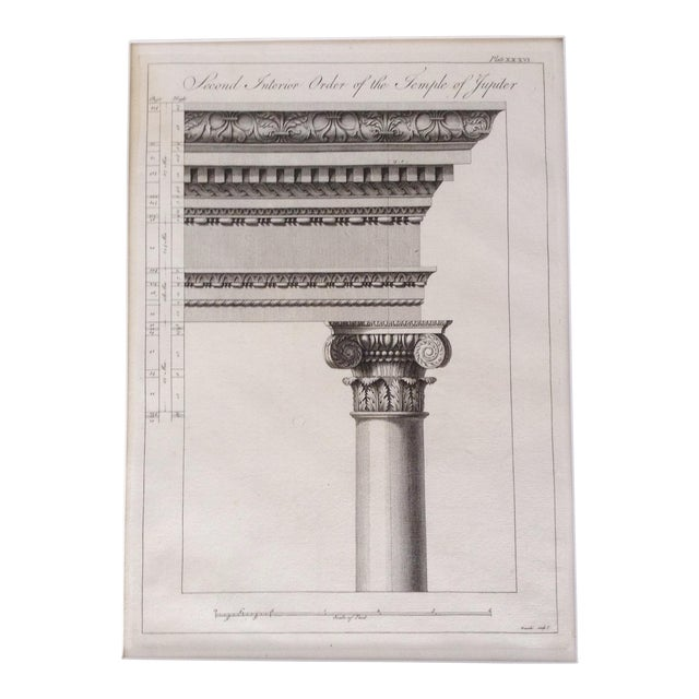 "1764 British ""Ruins of the palace of the Emperor Diocletian at Spalatro"" Engraving by Robert Adam For Sale"