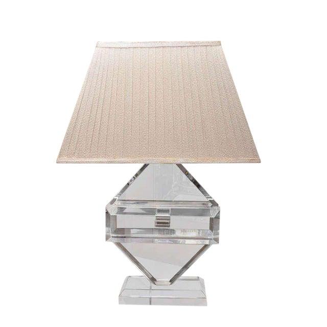 Fabulous Vintage Lucite Table Lamp By Michael Oguns