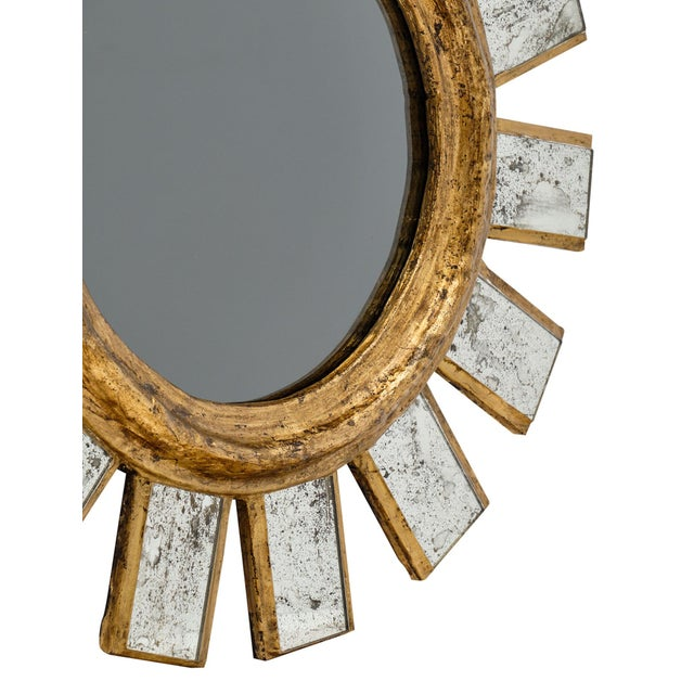 Gold French Sunburst Mirror For Sale - Image 8 of 11