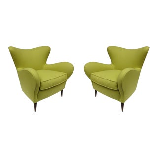A Pair of Armchairs, ISA manufacture, Bergamo 1960
