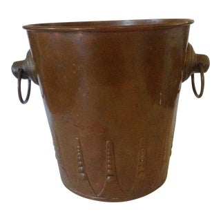 French Copper Ice Bucket For Sale
