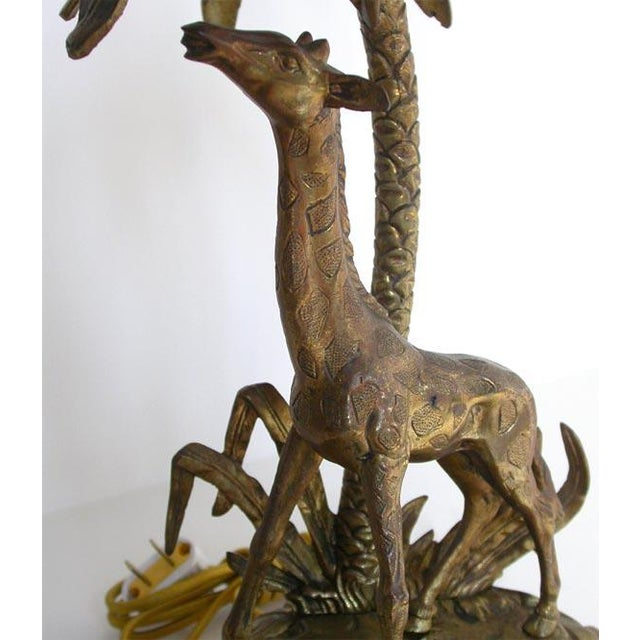Folk Art Figural Bronze table lamp For Sale - Image 3 of 8