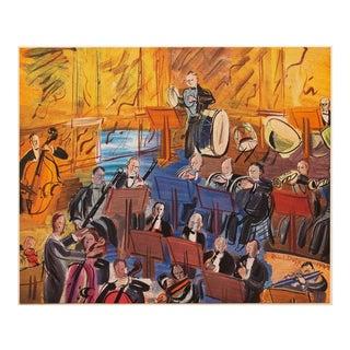 "1947 Raoul Dufy ""L'Orchestre"", First Edition Period Parisian Lithograph For Sale"